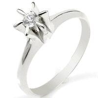 鑑定書付婚約指輪エンゲージリングダイヤモンドリング指輪ホワイトゴールドk18立爪ダイヤ18金ストレートレディースブライダルジュエリーウエディング