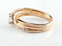 鑑定書付婚約指輪エンゲージリングダイヤモンドリングダイヤ指輪ピンクゴールドk1818金ストレートレディースブライダルジュエリーウエディング