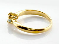 婚約指輪エンゲージリングダイヤモンドリングエメラルド指輪大粒ダイヤイエローゴールドK1818金ダイヤモンドリングダイヤストレートレディースブライダルジュエリーウエディング