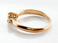 婚約指輪エンゲージリング鑑定書付ダイヤモンドリングアクアマリン指輪大粒ダイヤピンクゴールドK1818金ダイヤモンドリングダイヤストレートレディースブライダルジュエリーウエディング