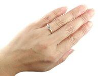 婚約指輪エンゲージリングアイオライトダイヤモンドリング指輪一粒大粒ピンクゴールドk10ストレート10金