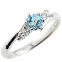 婚約指輪エンゲージリングブルートパーズダイヤモンドリング指輪一粒大粒ホワイトゴールドk10ストレート10金