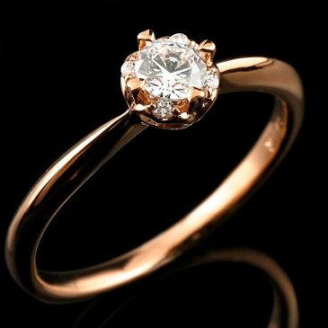 鑑定書付き エンゲージリング VSクラス ピンクゴールド ダイヤモンド ハート 指輪 一粒 大粒 ダイヤ ダイヤモンドリング k18 18金 ファッション 18k Xmas Christmas