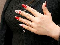 鑑定書付きエンゲージリングVVSクラスピンクゴールドリングダイヤモンドハート指輪一粒大粒ダイヤダイヤモンドリングk1818金