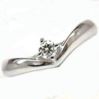 【送料無料】エンゲージリング婚約指輪一粒ダイヤモンドホワイトゴールドk1818金ダイヤモンドリングダイヤストレート