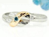 【送料無料】エンゲージリングピンキーリングダイヤモンドホワイトゴールドK18イエローゴールドk18婚約指輪18金ダイヤモンドリングダイヤストレート