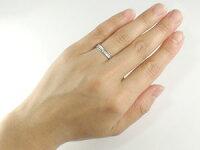 エタニティリングダイヤモンドリング婚約指輪エンゲージリングダイヤ0.13ctホワイトゴールドK1818金ダイヤモンドリングストレート