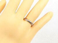 【送料無料】エンゲージリング婚約指輪ブラックダイヤモンドダイヤ0.03ctホワイトゴールドk1818金ダイヤモンドリングストレート