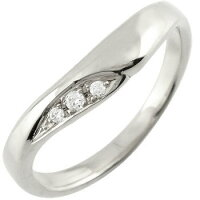 V字婚約指輪エンゲージリングダイヤモンドホワイトゴールドk1818金ダイヤモンドリングウェーブリングダイヤ
