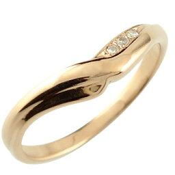 【ポイント10倍】V字 婚約 指輪 エンゲージリング ダイヤモンド ダイヤ ピンクゴールドk18 18金 ダイヤモンド ダイヤリング ウェーブリングスリーストーン 女性 送料無料 人気