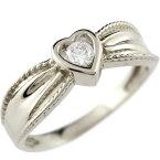 婚約指輪 エンゲージリング ハート プラチナ ダイヤモンド リング 一粒 ダイヤ 指輪 ダイヤモンドリング ダイヤ ストレート レディース ブライダルジュエリー ウエディング 贈り物 誕生日プレゼント ギフト 妻 嫁 奥さん 女性 彼女 娘 母 祖母 パートナー 送料無料