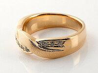 【送料無料】婚約指輪エンゲージリングダイヤモンドリングダイヤ指輪幅広つや消しピンクゴールドk1818金ストレート