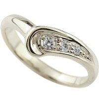 【送料無料】婚約指輪エンゲージリングダイヤモンドプラチナリング指輪ピンキーリングダイヤダイヤモンドリングV字pt900レディースウェーブリング