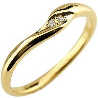 【送料無料】婚約指輪エンゲージリングダイヤモンドリングダイヤ指輪イエローゴールドk1818金レディースストレート