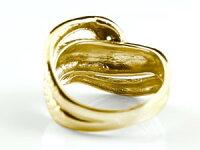 【送料無料】ダイヤモンドリングスネークリングピンクゴールドK18蛇リング18金ダイヤストレート