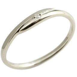 婚約指輪 エンゲージリング ダイヤモンド ダイヤ ピンキーリング ホワイトゴールドk10 一粒 10金 極細 華奢 スパイラル 指輪 プレゼント 女性 送料無料