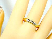 【送料無料】ダイヤモンドリングイエローゴールドK18婚約指輪エンゲージリングダイヤモンド0.13ct指輪18金ダイヤモンドリングダイヤストレート