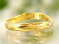 【送料無料】ダイヤモンドリングイエローゴールドK18婚約指輪エンゲージリングダイヤモンド0.03ct指輪18金ダイヤモンドリングダイヤストレート