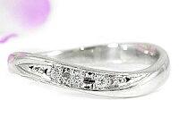 【送料無料】ダイヤモンドリングホワイトゴールドk18婚約指輪エンゲージリング18金ダイヤモンドリングダイヤストレート