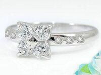 【送料無料】ダイヤモンドリングプラチナリング婚約指輪エンゲージリングピンキーリングダイヤモンド0.48ct指輪ダイヤモンドリングダイヤストレート