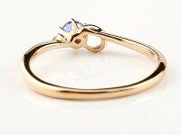【送料無料】ピンキーリングエンゲージリングイニシャルネームC婚約指輪アイオライトダイヤモンドピンクゴールドk18指輪アルファベット18金レディース人気