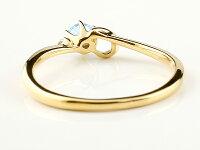 【送料無料】ピンキーリングエンゲージリングイニシャルネームC婚約指輪ブルートパーズダイヤモンドイエローゴールドk10指輪アルファベット10金レディース11月誕生石人気