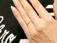 【送料無料】ピンキーリングエンゲージリングイニシャルネームH婚約指輪ペリドットダイヤモンドイエローゴールドk18指輪アルファベット18金レディース8月誕生石人気