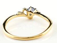 【送料無料】エンゲージリングイニシャルネームY婚約指輪アイオライトダイヤモンドイエローゴールドk18指輪アルファベット18金レディース人気