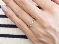 【送料無料】エンゲージリングイニシャルネームE婚約指輪アクアマリンダイヤモンドホワイトゴールドk18指輪アルファベット18金レディース3月誕生石人気