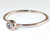 【送料無料】ファランジリングダイヤモンドミディリングピンクゴールドk18関節リング指輪華奢ネイルリング一粒ダイヤレディース人気18金ダイヤ4月誕生石