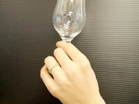 ペアリングハワイアンジュエリーダイヤモンドブルーダイヤモンド結婚指輪マリッジリングピンクゴールドk1818金ダイヤストレートカップル