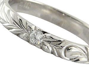 ハワイアンジュエリー ペアリング 人気 プラチナ 結婚指輪 一粒ダイヤモンド マリッジリング pt900 ダイヤ ストレート カップル 贈り物 誕生日プレゼント ギフト ファッション パートナー