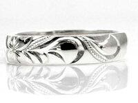 【送料無料】ハワイアンジュエリーペアリング人気ホワイトゴールド18ピンクゴールド18結婚指輪マリッジリング地金リング18金k18wgk18pgストレートカップル
