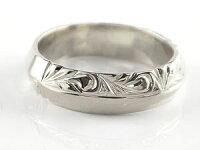 ハワイアンペアリング人気結婚指輪シルバー幅広葉波地金リングsv925ストレートカップル