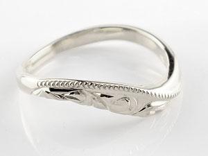 ハワイアン ペアリング 人気 結婚指輪 ミル打ち ホワイトゴールドk18 地金リング 18金 k18wg ウェーブリング ストレート カップル 贈り物 誕生日プレゼント ギフト ファッション パートナー