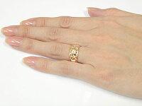 ハワイアンペアリング人気結婚指輪ミル打ち幅広透かしピンクゴールドk18地金リング18金k18pgストレートカップル