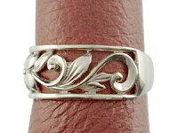 【送料無料】ハワイアンペアリング人気結婚指輪幅広透かしプラチナ900ピンクゴールドk10コンビ地金リング10金pt900k10pgストレートカップル