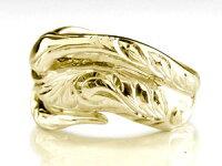 ハワイアンペアリング人気結婚指輪ダイヤモンドブルーダイヤモンド蛇スネークイエローゴールドk1818金k18ygダイヤカップル