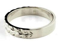 【送料無料】ハワイアンジュエリーペアリングプラチナクロスダイヤモンドダイヤ結婚指輪マリッジリングストレートカップル