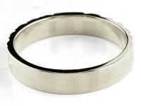 【送料無料】ハワイアンジュエリーペアリングプラチナクロスブラックダイヤモンドダイヤ結婚指輪マリッジリングストレートカップル