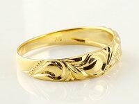 ハワイアンジュエリーペアリングダイヤモンド人気結婚指輪マリッジリングハートミル打ちホワイトゴールドk18イエローゴールドk1818金ダイヤプロポーズ記念日誕生日マリッジリング
