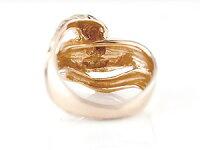 ハワイアンペアリング人気結婚指輪ダイヤモンドブルーダイヤモンド蛇スネークピンクゴールドk1818金k18pgダイヤカップル
