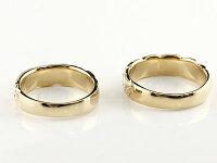 結婚指輪ペアリングハワイアンジュエリーサファイアダイヤモンドイエローゴールドk10幅広指輪マリッジリングハートストレートカップル10金プロポーズ記念日誕生日マリッジリング