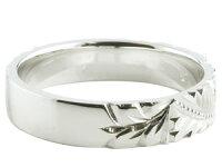 【送料無料】結婚指輪ハワイアンジュエリーペアリング人気ホワイトゴールドk18イエローゴールドk18マリッジリング地金リング18金k18wgk18ygストレートカップル