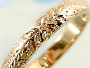 ペアリング 結婚指輪 ハワイアン 人気 ホワイトゴールドk18ピンクゴールドk18 k182本セット 地金リング 18金 k18wg k18pg ストレート カップル 贈り物 誕生日プレゼント ギフト ファッション パートナー