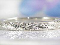 【送料無料】結婚指輪ハワイアンペアリングホワイトゴールドk102本セット10金ストレートカップル