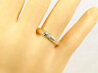 【送料無料】結婚指輪ハワイアンペアリング人気ダイヤモンドブルーダイヤモンドホワイトゴールドk18イエローゴールドk18k182本セット18金k18wgk18ygダイヤ