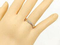 【送料無料】刻印ペアリング人気結婚指輪一粒ダイヤモンドマリッジリングイエローゴールドk18ピンクゴールドk1818金k18ygk18pgダイヤストレートカップル
