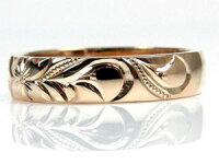 【送料無料】ハワイアンジュエリーリング指輪ピンクゴールドk18ピンキーリングハワイアンリング地金リング18金k18pgストレート