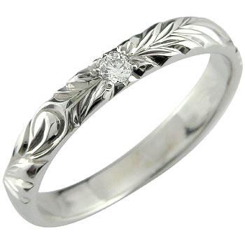 ハワイアンジュエリー エンゲージリング ハワイアンジュエリー 婚約指輪 一粒 ダイヤモンド プラチナ ハワイアンリング pt900 ダイヤ ストレート 贈り物 誕生日プレゼント ギフト ファッション